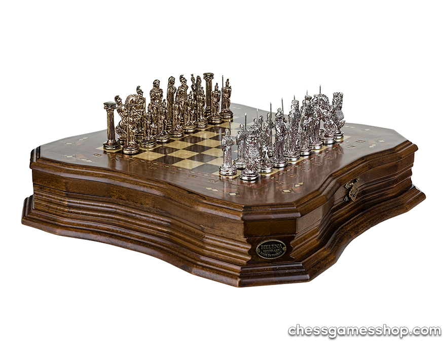 Luxury chess Antique -  Ashwood | Brass