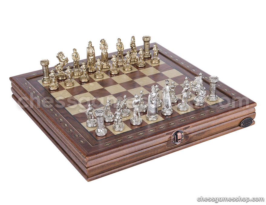 Luxury chess Medium -  Walnut