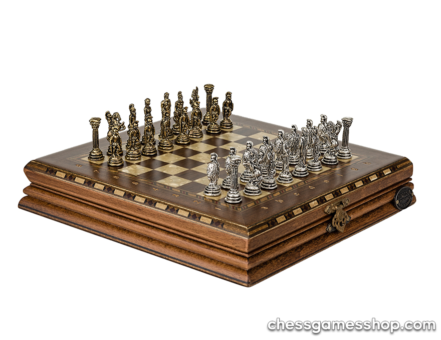 Luxury chess Small -  Ashwood | Brass