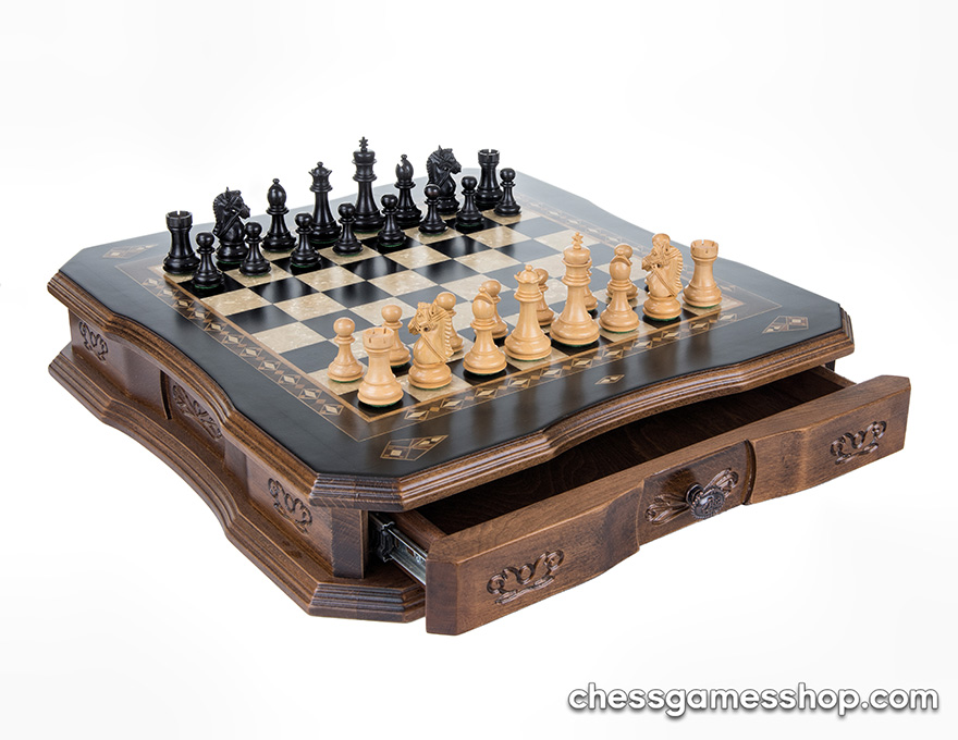 Luxury chess Large Antique Black