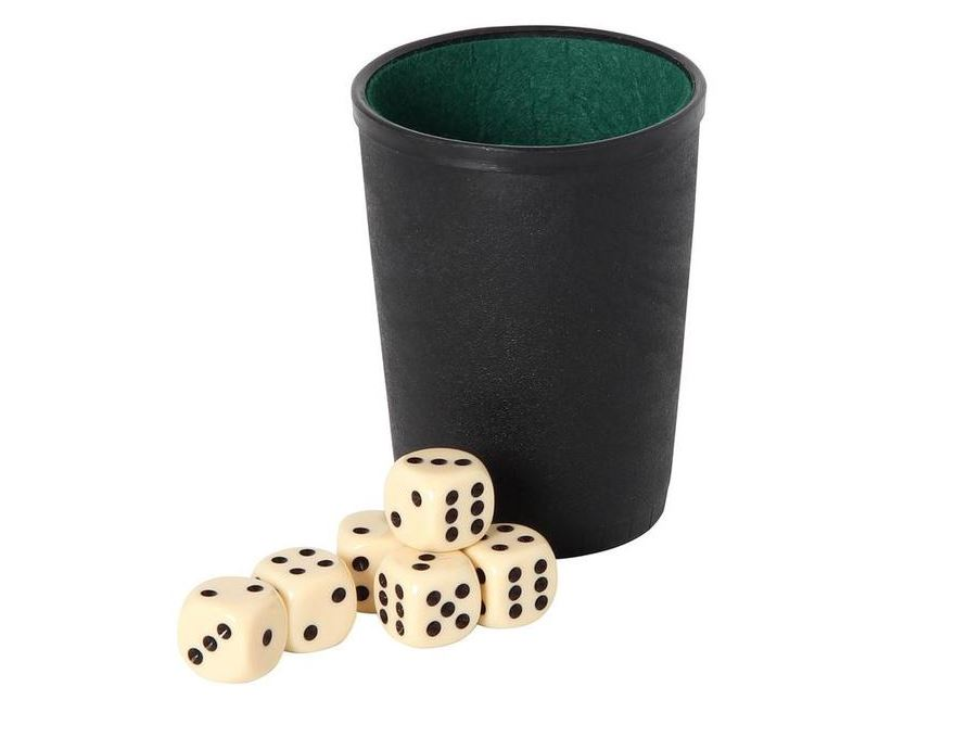 Dice cup <br> with 6 dices