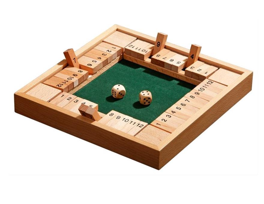 Shut the box for four <br> 12 number