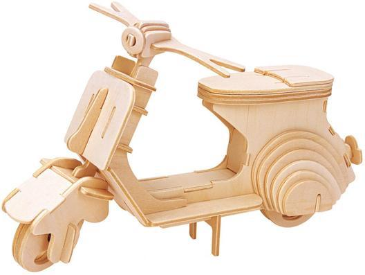 Wood 3D puzzle Scooter