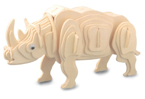 Wood 3D puzzle Rhinoceros