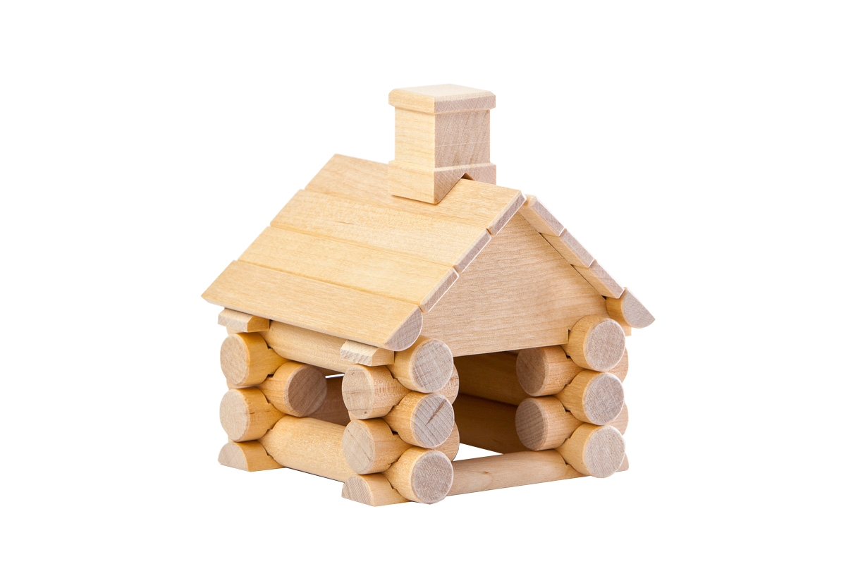 Wood Construction Set - Little House