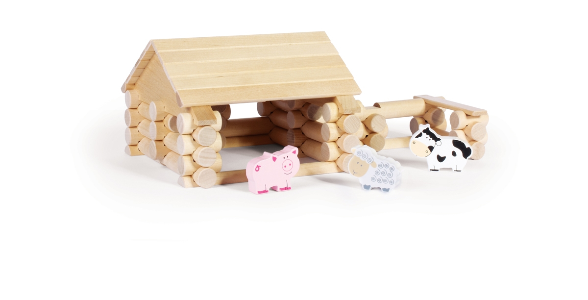 Wood Construction Set - Barn
