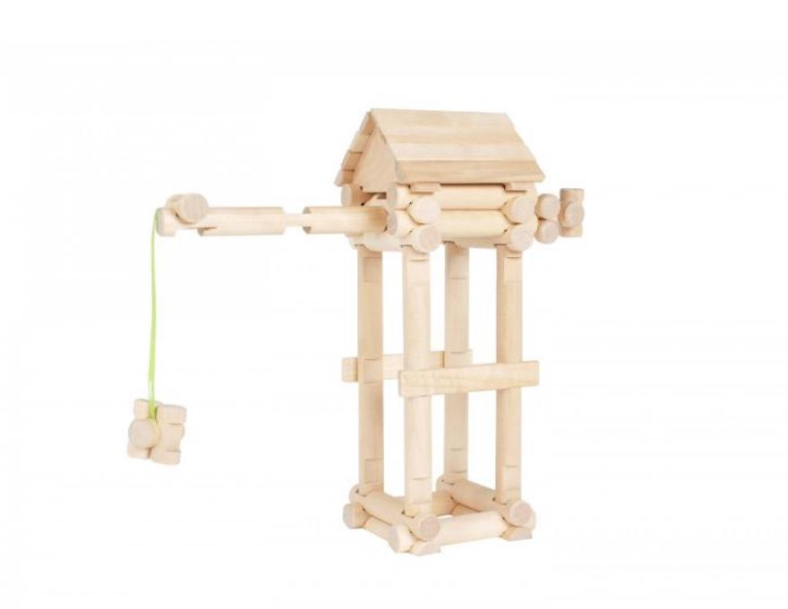 Wood Construction Set - Crane