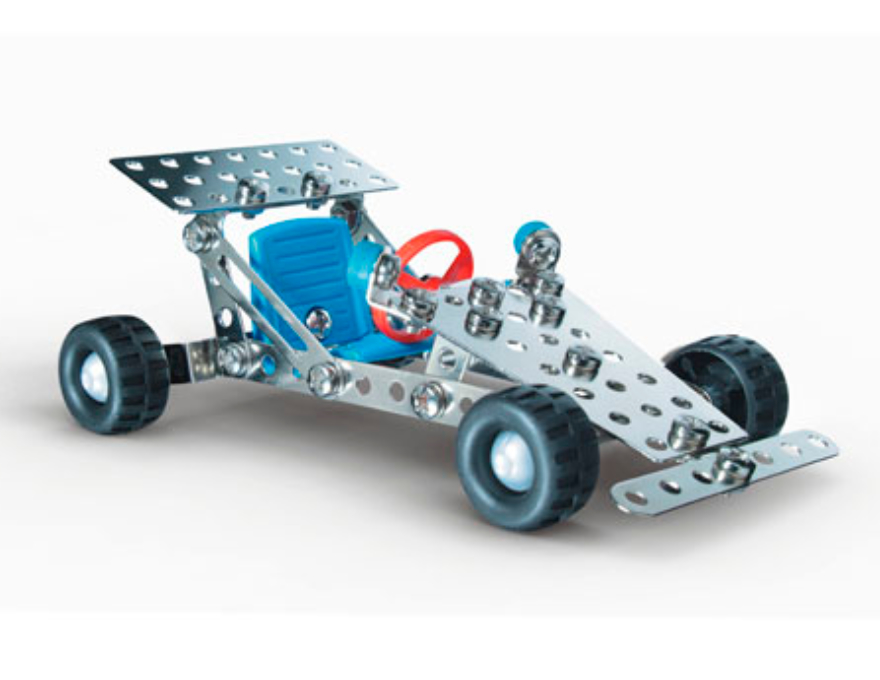 Racing car metal construction set