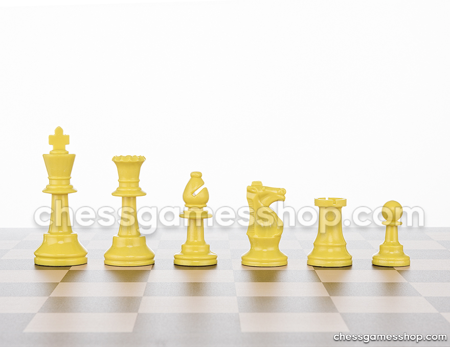 JigChess pieces Yellow <br> Half set