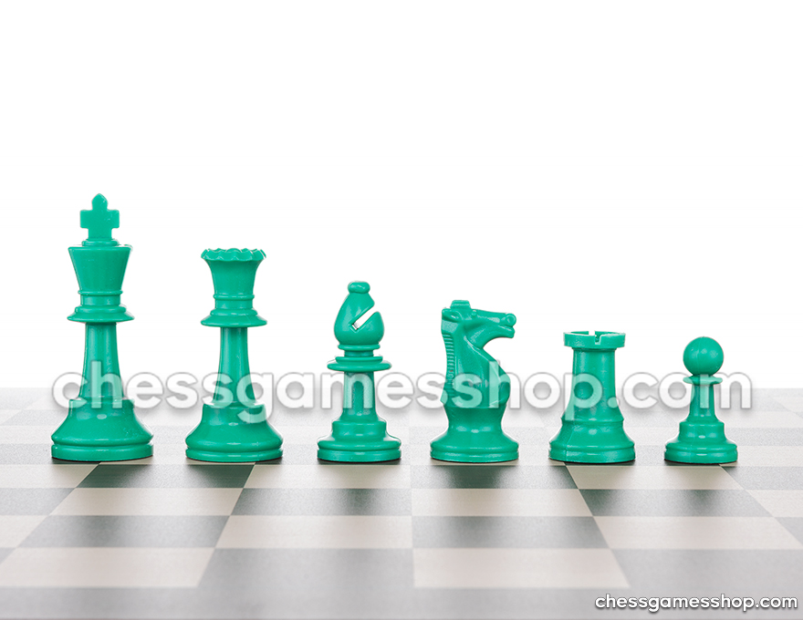 JigChess pieces Green <br> Half set