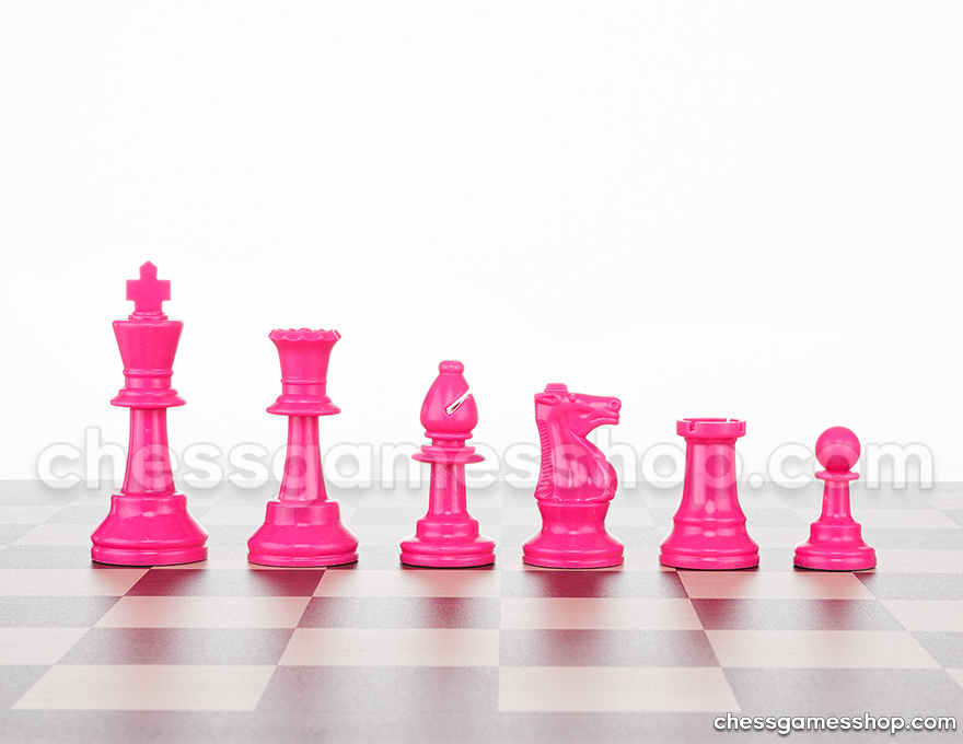 JigChess pieces Pink <br> Half set