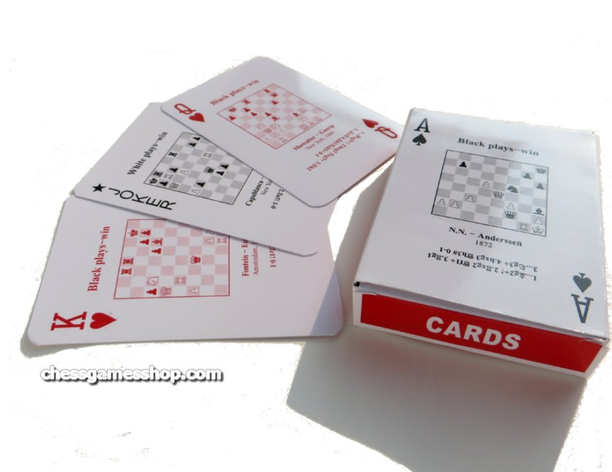 Deck of chess problems cards