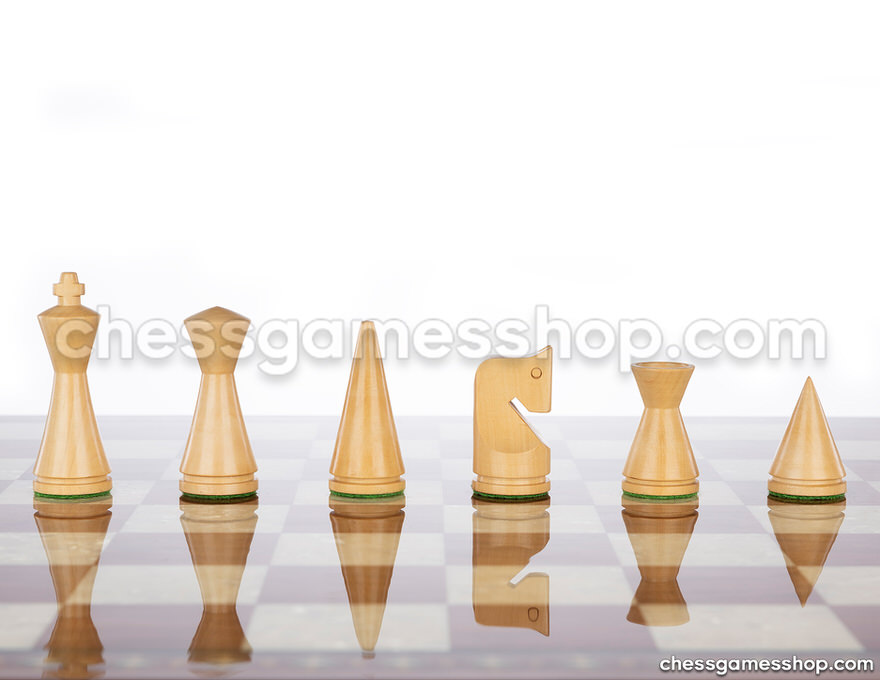 Chess pieces <br> Modern brown