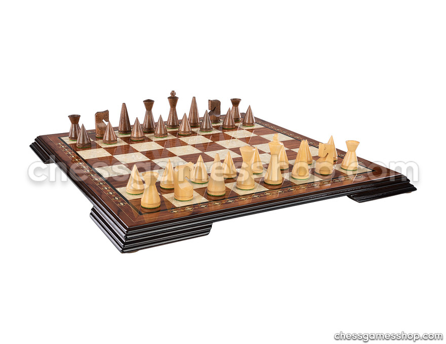 Chess set Modern Brown