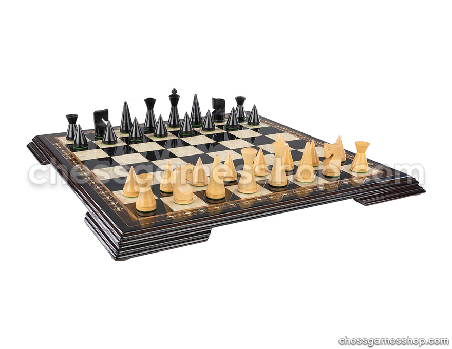 Chess set Modern Black