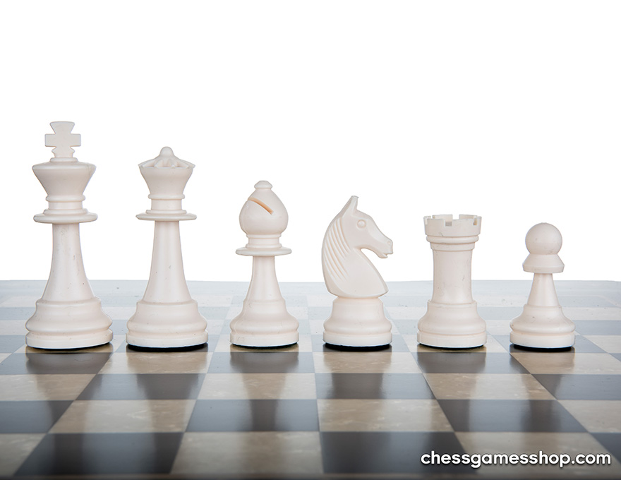 Chessmen anthracite | white