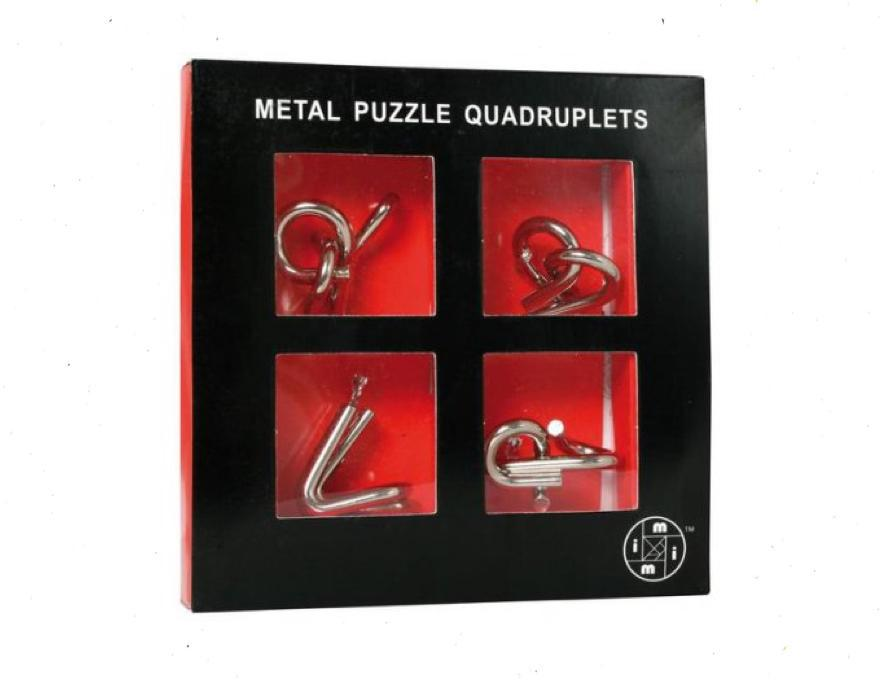 Gift box of metal puzzles