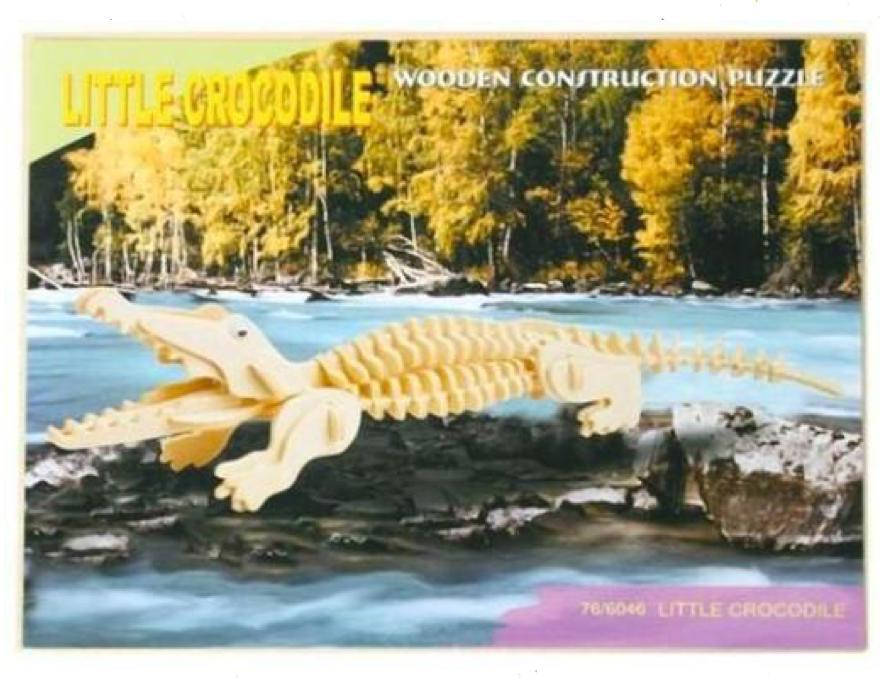 Wood 3D puzzle Crocodile